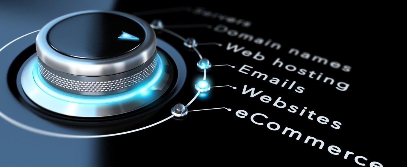 Drehknopf zur Wahl von Internetdienstleistungen